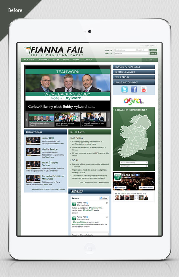 Fianna Fáil website after