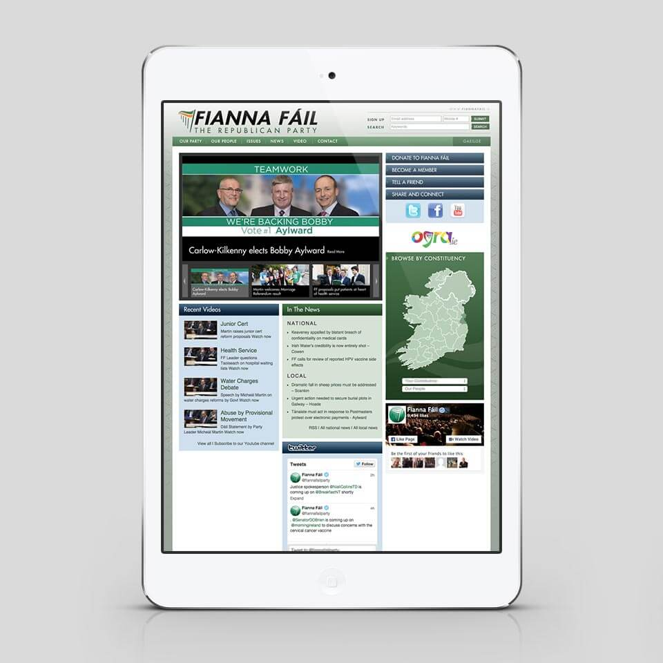 ff website homepage before redesign on tablet