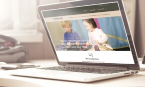 fianna fail website redevelopment on laptop