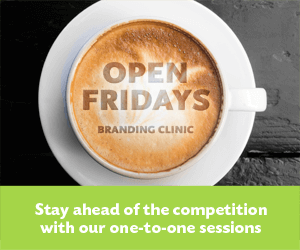 Open Fridays branding clinic. Stay ahead of the competition with our one to one sessions