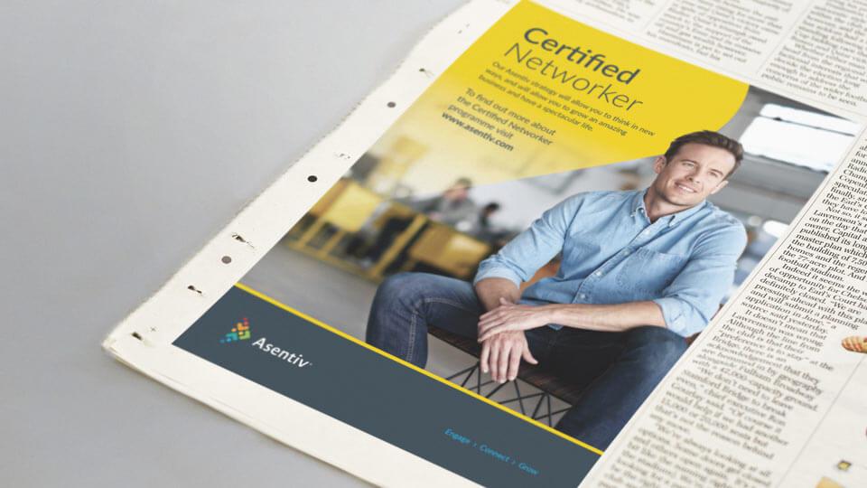 Asentiv Newspaper Ad