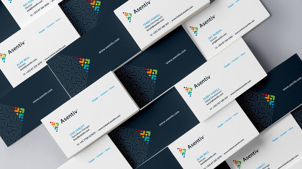Asentiv branded Business Cards