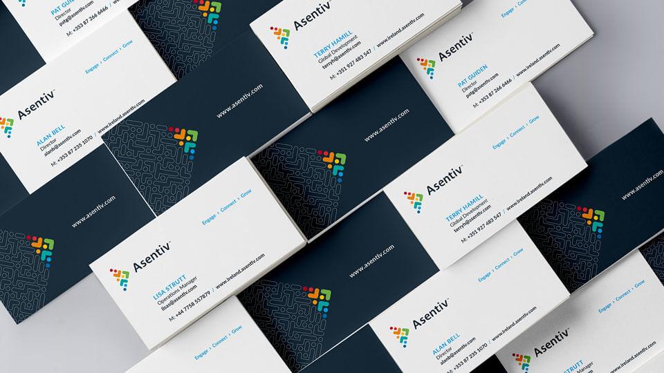 Asentiv branded Business Cards