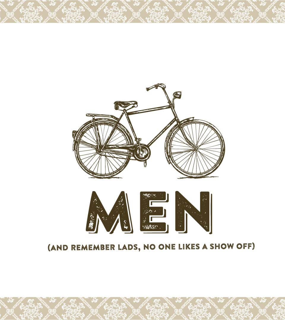 Vintage Inn Mens Signage