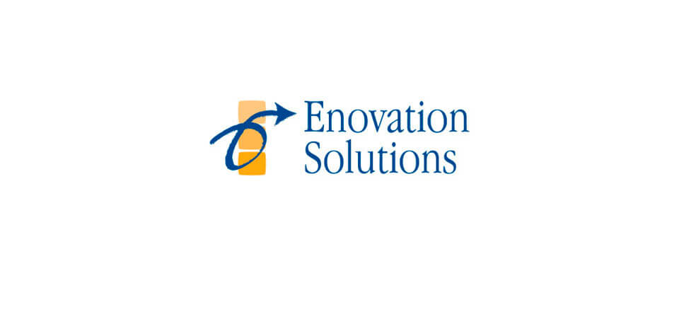 Enovation logo before rebrand