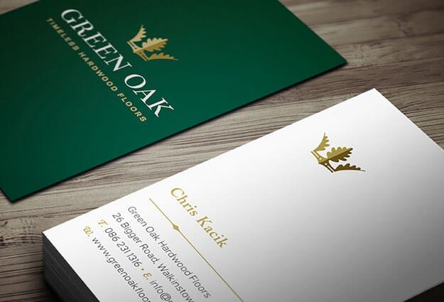 Green Oak New business cards