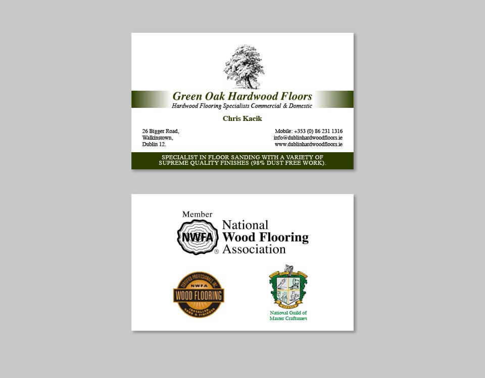 Green Oak old business cards