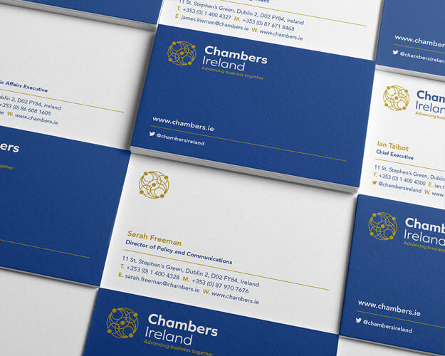 Chambers new branded business cards