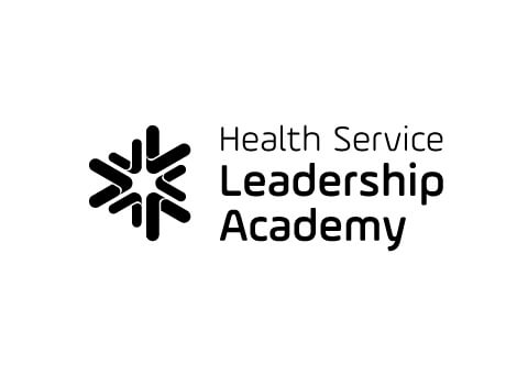 Health Service Leadership Academy black and white logo