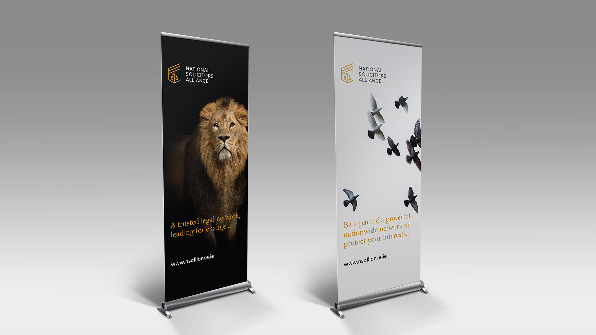 National Solicitors Alliance pullup banners