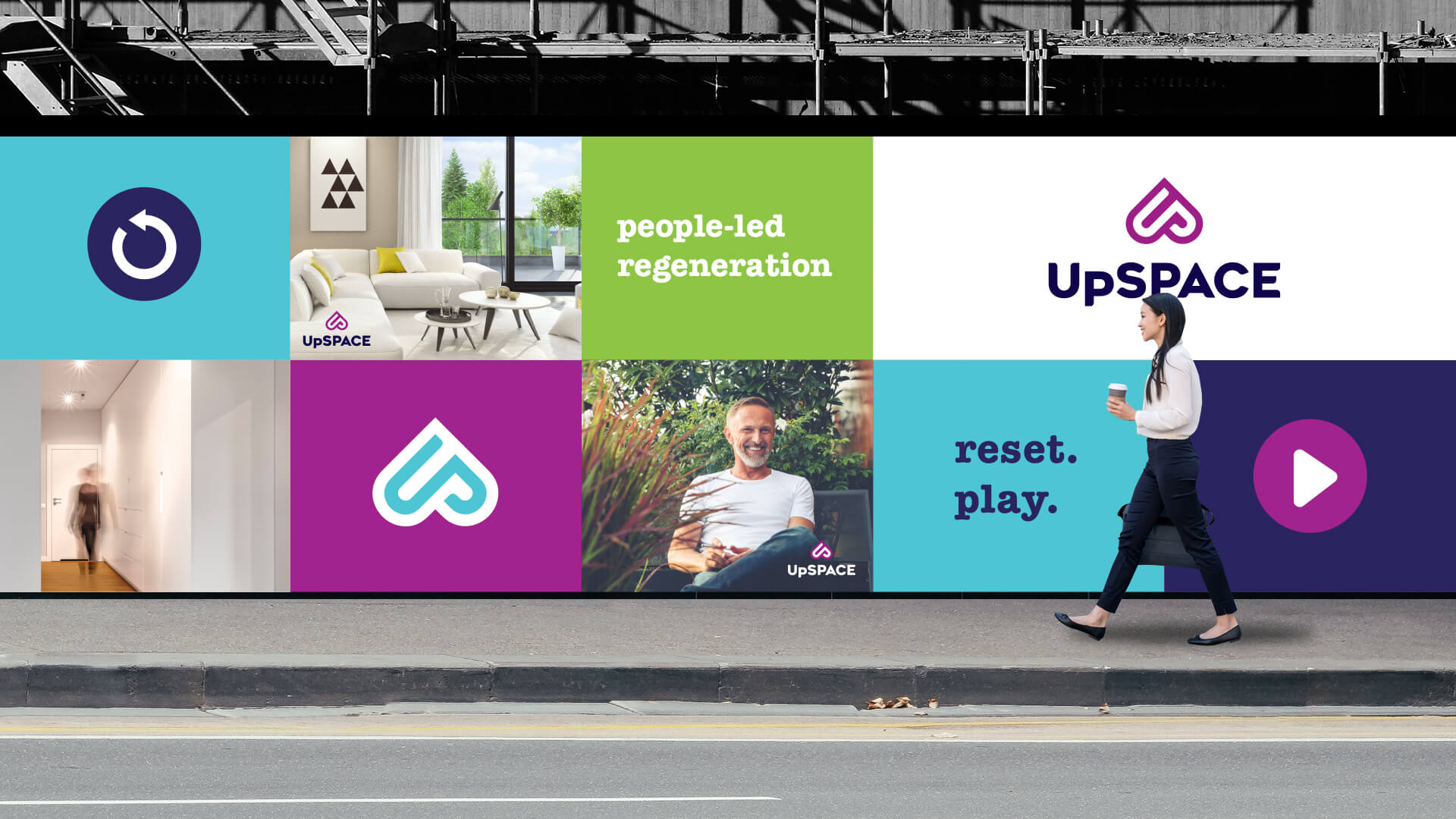 UPSPACE propery development hoarding