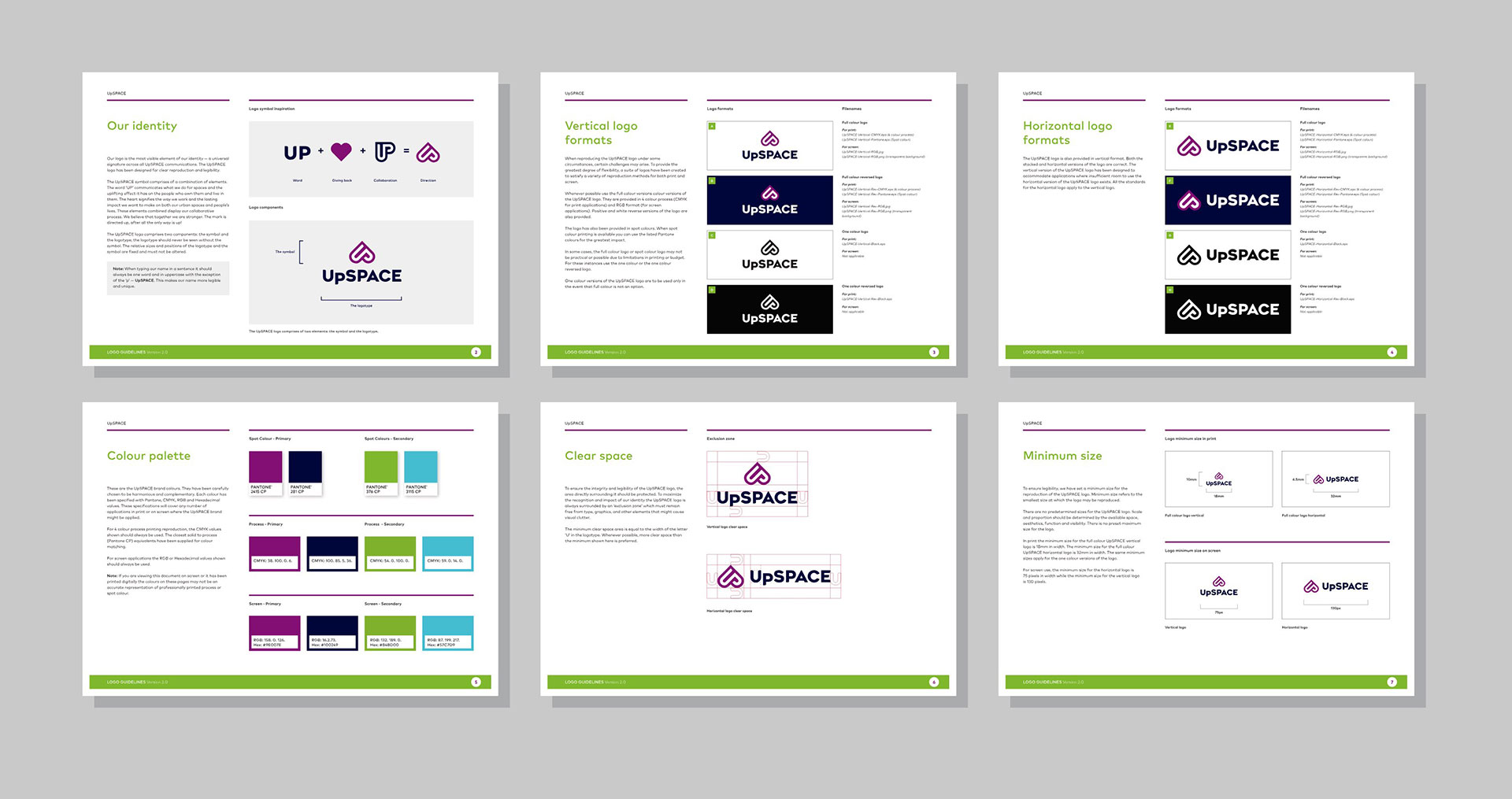 Upspace Brand Guidelines 6 pages