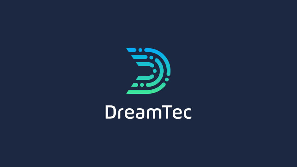 DreamTec stacked vertical logo