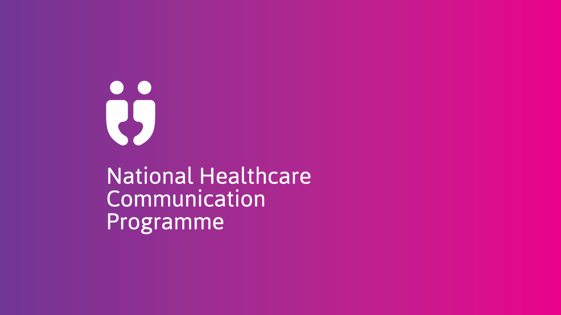 HSE national healthcare communication programme vertical reversed logo