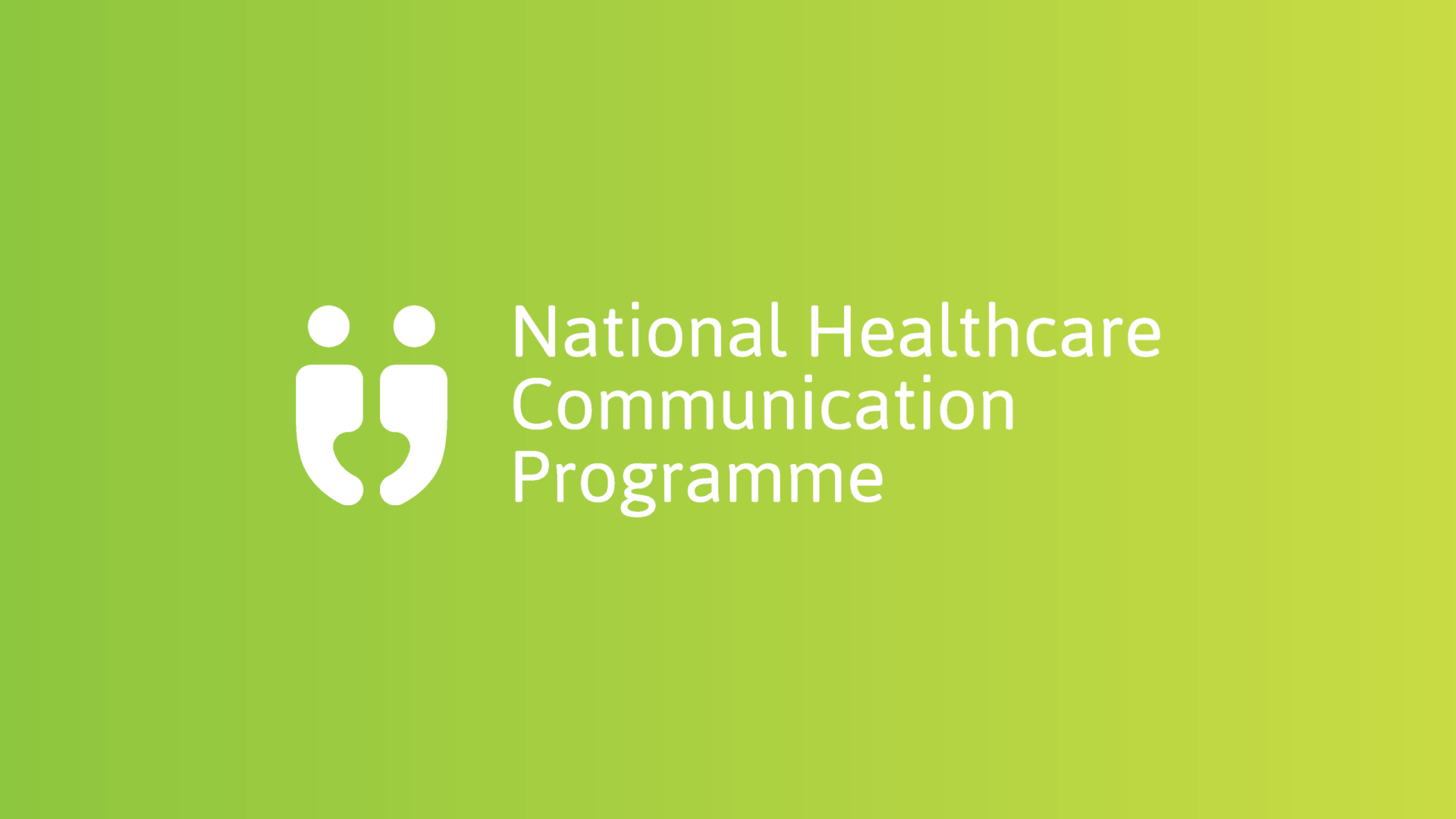HSE national healthcare communication programme horizontal reversed logo
