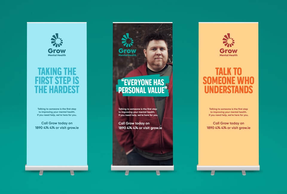 New Gorw Brand on pull-up banners